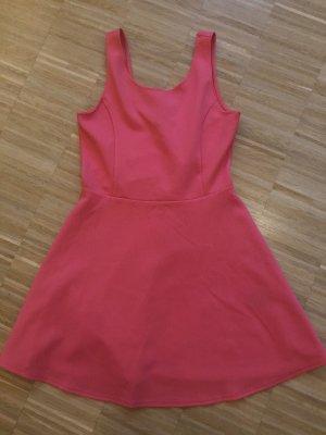 Korallrotes / Pinkes Kleid in A Linie / Skaterkleid