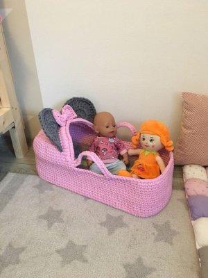 Basket Bag pink-grey