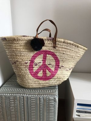 Korb Basttasche Strandtasche Shopper Ibiza Peace