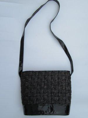 Vintage Bolso tipo cesta negro