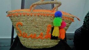 Borsetta a cestino beige-arancione