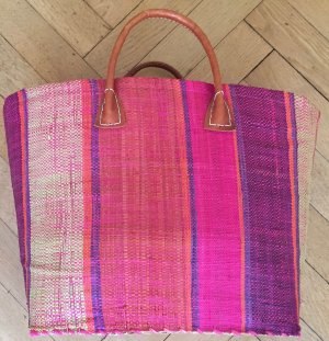 Basket Bag multicolored hemp