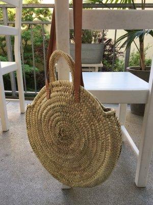 Borsetta a cestino marrone chiaro-sabbia