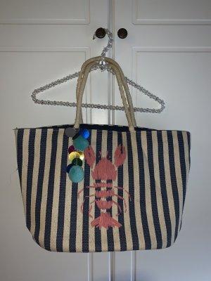 Basket Bag white-blue