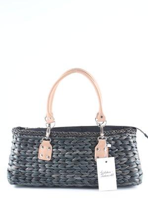 Basket Bag dark grey-nude casual look
