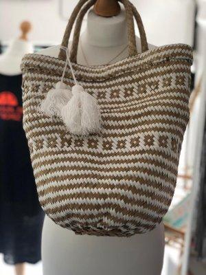 Basket Bag beige-white