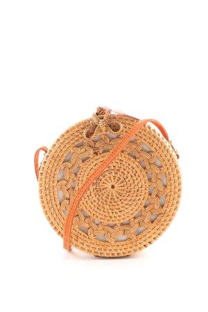 Basket Bag gold orange-brown Boho look