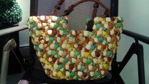 Borsetta a cestino multicolore