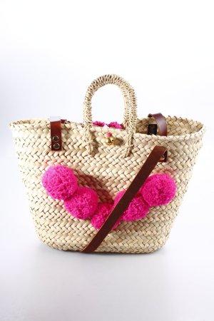 Korbtasche mehrfarbig Beach-Look
