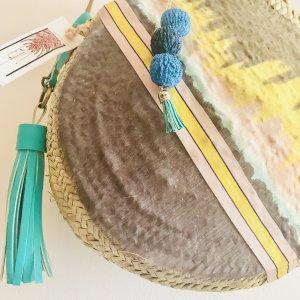 Korbtasche Roundbag Crossbody Ibiza Bohostyle Neu Designer Handmade