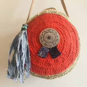 Korbtasche Roundbag Crossbody Ibiza Bohostyle Organic Hippiechic Designer neu