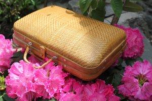 Korbtasche, sehr attraktiv, sehr guter Zustand, Style: 'LaLaLand'