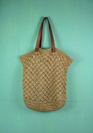 Korbtasche / Tasche aus geflochtenen Stroh / Weide