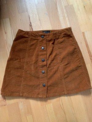 Topshop Mini-jupe brun-cognac