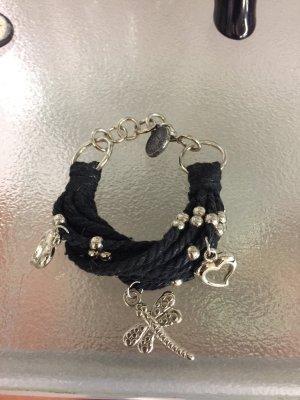 Ornamento braccia nero-argento Cotone