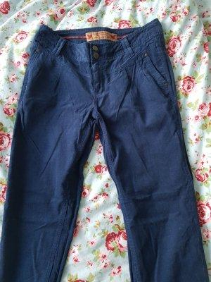 Stitch & Soul Corduroy Trousers dark blue