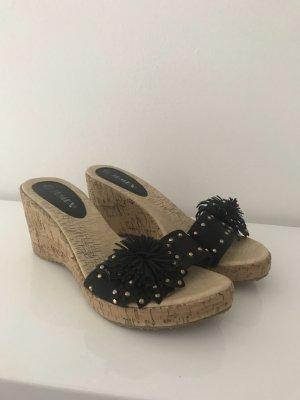 Jumex Heel Pantolettes black-camel