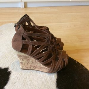 Lefties Wedge Sandals brown