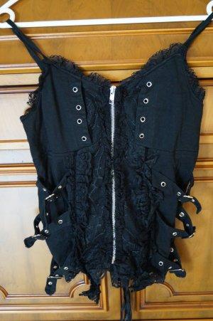 Poizen Industries Corsage topje zwart Polyester