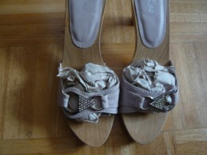 Clog Sandals cream synthetic material