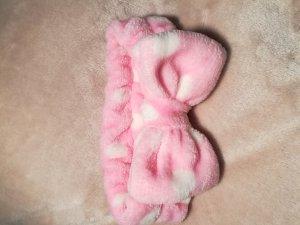 Cache-oreilles blanc-rose clair