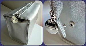 Kosmetik Tasche, Beauty Kit ,Clutch,rechteckig  Silber  Marke: LA PRAIRIE France