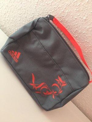 Kosmetikbeutel Tasche Adidas grau Reisetasche kulturtasche