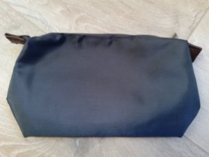 Kosmetiktäschchen Nylon in dunkelblau - neu ohne Etikett -
