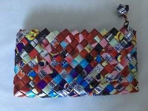 Mini Bag multicolored recycled material
