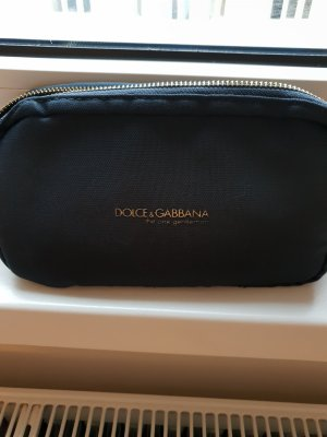 Dolce & Gabbana Trousse à maquillage doré-bleu foncé