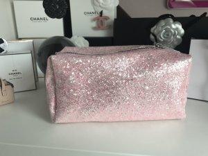 Kosmetiktasche Rosa Glitzer Beautycase