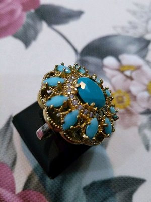 Ring multicolored real silver