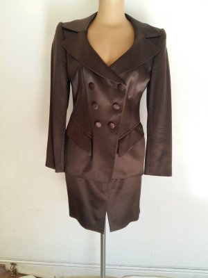 Rena Lange Ladies' Suit dark brown silk