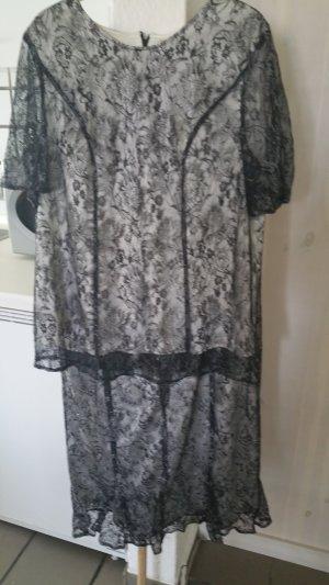 Ladies' Suit black-silver-colored