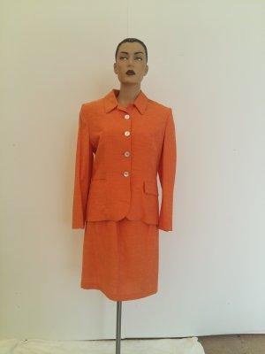 Traje para mujer naranja neón Fibra sintética
