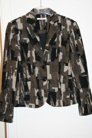 Kostüm, Blazer mit Rock, Steilmann , Gr. 38, schwarz-beige-braun, ungetragen