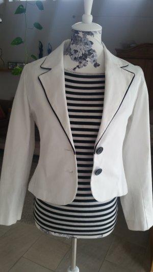 Jennifer Taylor Tailleur blanc-noir coton