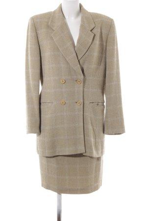 Tailleur chameau-gris clair motif à carreaux produits rétro