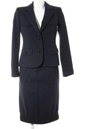 Tailleur bleu foncé-noir style d'affaires