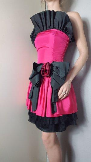 Tailleur nero-rosa