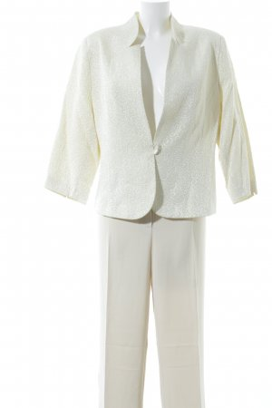 Ladies' Suit pale yellow mixed pattern business style