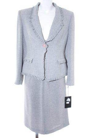 Traje para mujer gris claro-gris estilo «business»