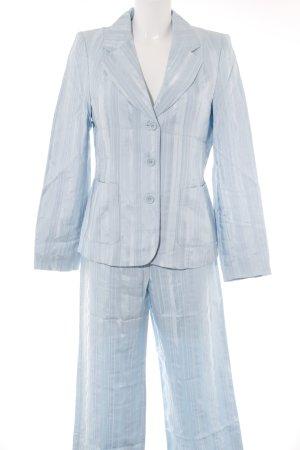 Kostüm himmelblau Streifenmuster Business-Look