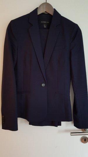 Kostüm, Hosen-Anzug von Mango Suit, dunkelblau, Baumwolle, Gr.S