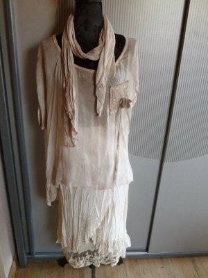 Kostüm Rock Schal beige Made in Italy