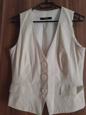 Kostüm s.oliver Vanille mit feinen Streifen
