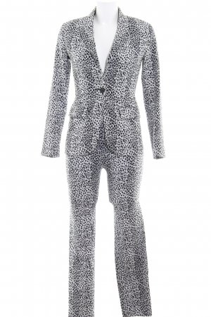 Ladies' Suit black-white animal pattern business style