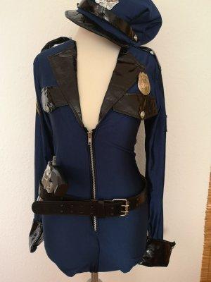 Blusa tipo body azul-azul oscuro