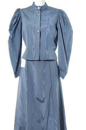 Kostüm stahlblau abstraktes Muster Vintage-Artikel