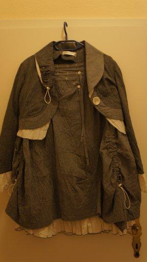 Kostüm v. Joachim Bosse - Rock mit Bolero (Rock Gr. 40, Bolero Gr. 38) weiß/grau
